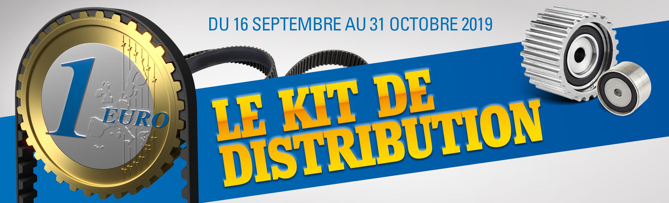 Le kit de distribution à 1€