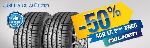 -50% sur le 2ème pneu Falken