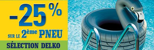 -25% sur le 2ème pneu SÉLECTION DELKO