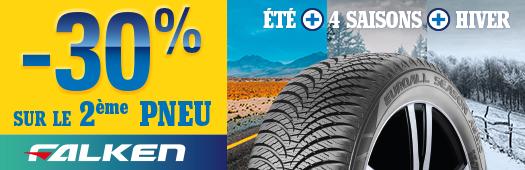 -30% sur le 2ème pneu Falken